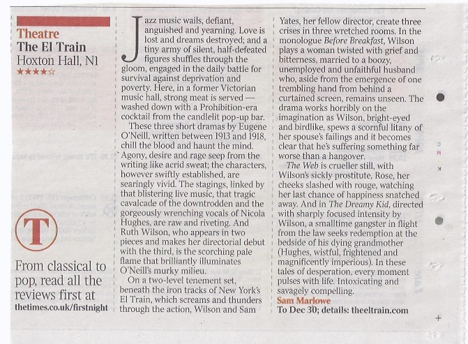 Times Review by Sam Marlowe