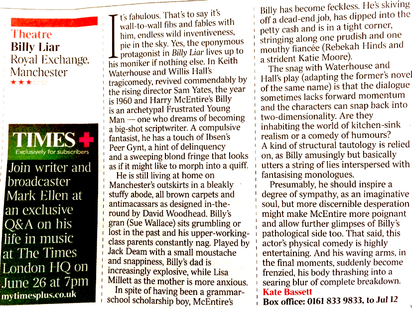 Billy Liar The Times Review